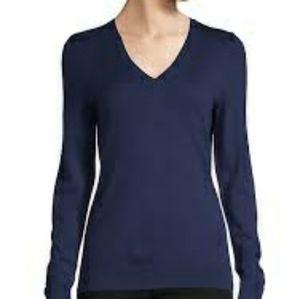 KNIT KNIT V Neckline long sleeves woman T-shirt